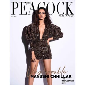 Manushi Chhillar Actor peacock magazine