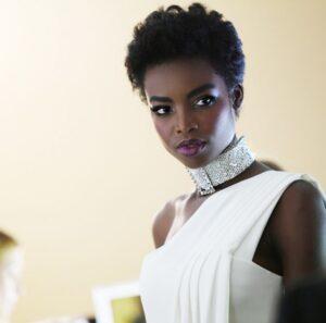 top black female model Maria Borges