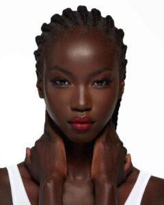 top black female model Anok Yai