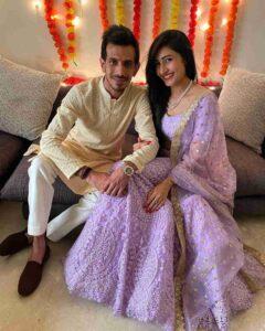 Dhanashree Verma with fiance Yuzvendra Chaha