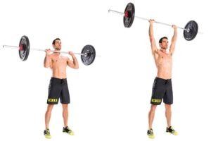 Barbell Overhead Press shoulder exercise