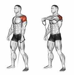 Cable Raises for shoulder workouts