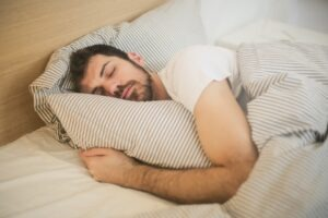 Get enough sleep to male model skincare