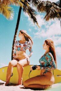 Create a bikini modeling portfolio
