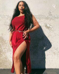 Audrey Littie is plus size fashion nova model