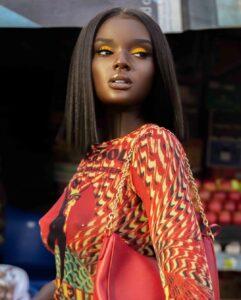 Duckie Thot is black female model