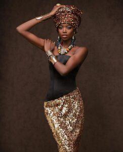 Maria Borges is black female model