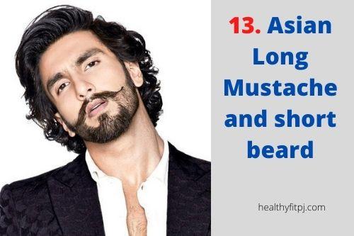 Asian Long Mustache and short beard