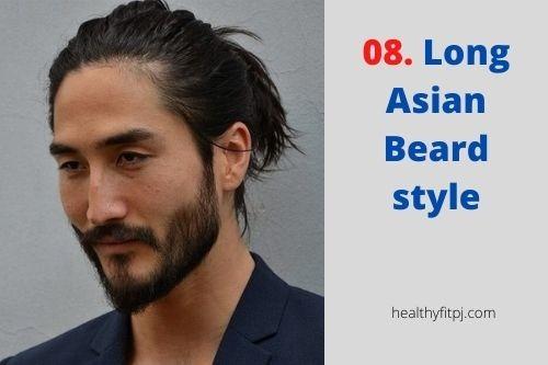 Long Asian Beard style