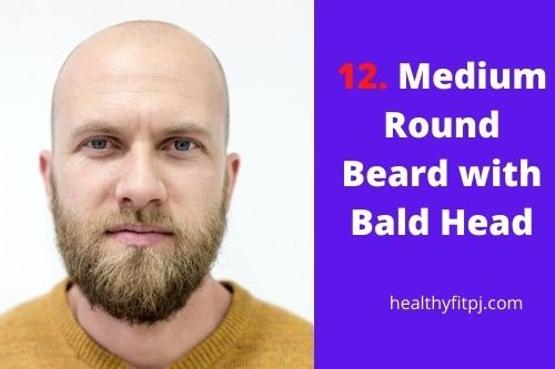 Medium Round Beard with Bald Head