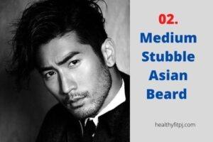 Medium Stubble Asian Beard