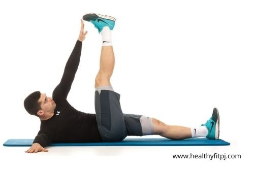 Alternating Toe Touch workout for lower abs