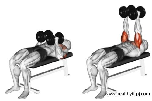 Close-grip Dumbbell Chest Press