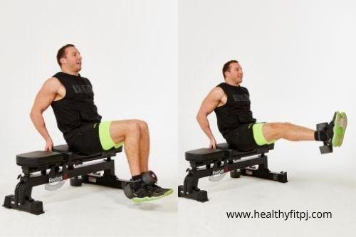 Dumbbells Leg extension