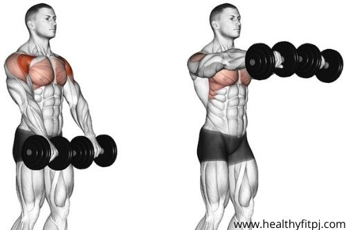 Front Raise with dumbbells