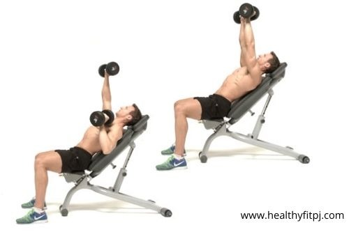 Mixed-Style Incline Dumbbell Press