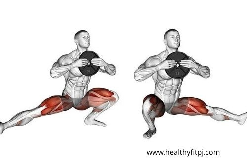 Weighted Adductor Goblet Squat
